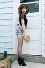 Black-steve-madden-boots-gold-r-em-purse-teal-floral-mink-pink-shorts-amet