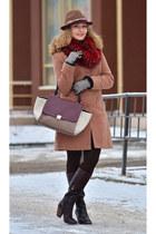 Elche boots - kira plastinina coat - Accessorize hat - asos scarf - Celine bag