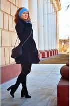 asos coat - Elcherry boots - Ostin scarf - oodji bag