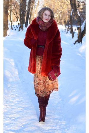 Zara dress - hm coat - asos bag