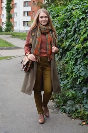 H&M jeans - asos boots - asos coat - Zara bag - H&M jumper