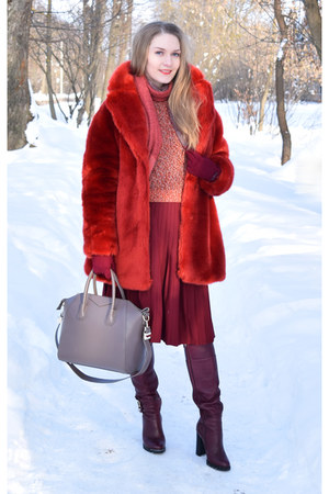 H&M coat - insity bag - H&M jumper