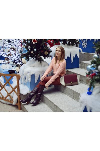 Celine bag - Elche boots - hm sweater - asos shorts - asos earrings