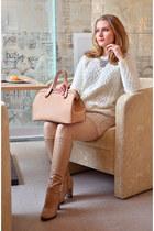 Mango bag - ARZOmania boots - Avalon coat - Stradivarius skirt - H&M jumper