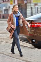 Zara bag - asos boots - kira plastinina coat - Ostin scarf - Zara pants