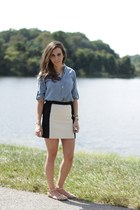 chambray Gap shirt - Loft skirt