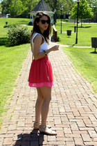 hot pink H&M skirt