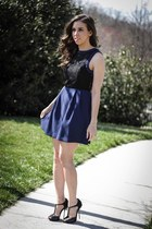 navy lace BCBGeneration dress