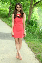 coral shift dress Jcrew dress