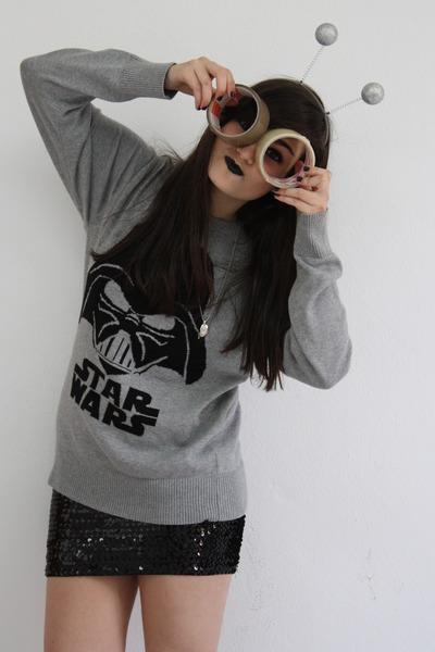 Gray H&m Jacket Black H&m