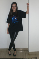 Hand Made shirt - Bershka leggings - Jimmy Choo for h&m shoes