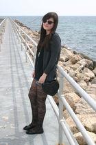 black Topshop purse - gray Zara cardigan - black Primark t-shirt - blue Mango sh