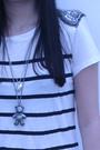 White-zara-dress-silver-necklace-black-tights-black-h-m-shoes