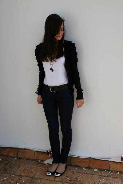 H&M jacket - H&M t-shirt - vintage accessories - Zara jeans - Zara shoes - vinta