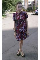 magenta Karl Lagerfeld dress - light pink Kenneth Cole bag