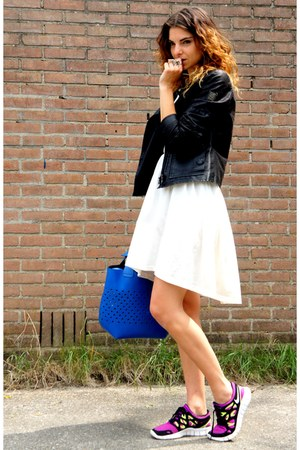 H&M dress - gio-goi jacket - Zara bag - nike sneakers