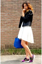 nike sneakers - H&M dress - gio-goi jacket - Zara bag