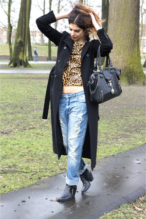 Eleven Paris jeans - black Nelly boots - black Zara coat - bronze Zara top