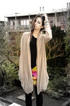 Versace for H&M skirt - H&M shirt - By second female copenhagen cardigan