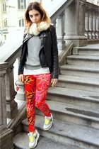 gio-goi jacket - Zara sweater - Versace for H&M pants - nike sneakers