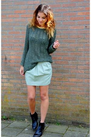 aquamarine Esprit skirt - black Nelly boots