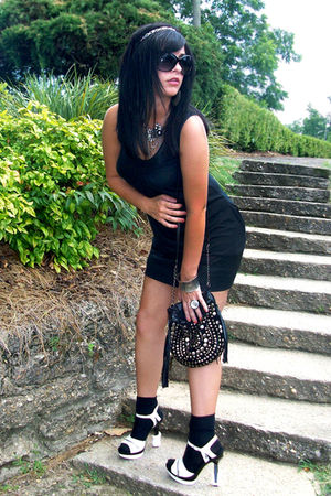 black Express dress - black Target socks - black Forever 21 purse - silver Forev