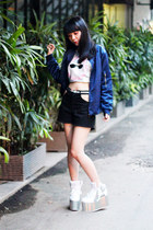 YRU shoes - STUPKID jacket - This Is A Love Song shorts