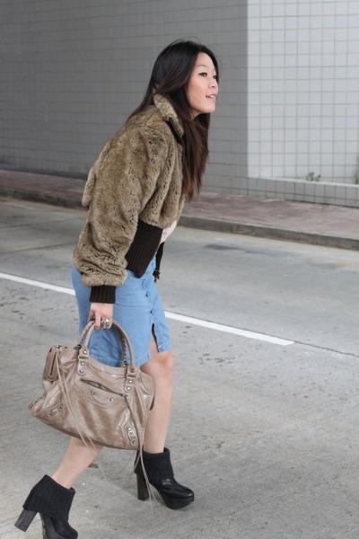 Express jacket - See by Chloe blouse - balenciaga purse - ras shoes - cotton on
