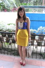 Red-shoes-yellow-skirt-purple-zara-top