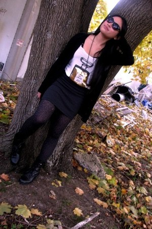 Forever 21 skirt - Urban Outfitters boots - Target tights - top