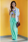 Blue-forever-21-swimwear-sky-blue-mse-shoes-white-chunky-raf-necklace