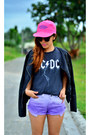 Black-alexander-wang-boots-hot-pink-giordano-hat