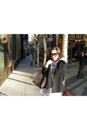 christian dior sunglasses - random from Hong Kong dress - Zara coat - Louis Vuit