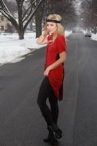 black zipper boots Dolce Vita shoes - black fringe West Coast Wardrobe leggings
