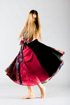 red desigual dress