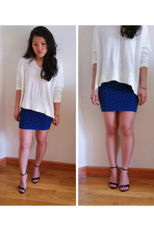 Forever 21 skirt - American Eagle sweater - Express heels