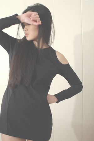 black acne dress