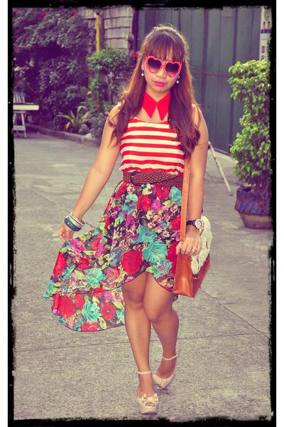 mullet custom made skirt - tawny satchel bazaar find bag