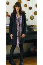 H&M coat - H&M skirt - new look shoes - pieces belt