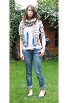 we vest - H&M jacket - Zara jeans - new look shoes