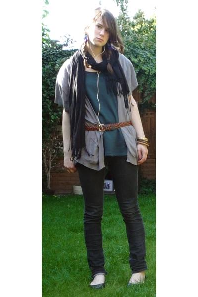 Zara dress - we sweater - vintage belt - Cheap Monday jeans - Newlook shoes - Ac