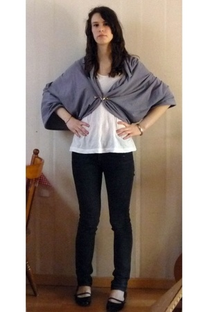 American Apparel scarf - Comptoir des Cotonniers top - Cheap Monday jeans