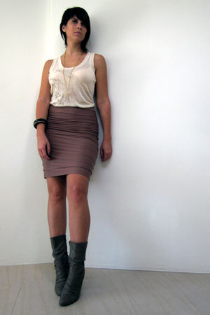 Diesel top - Kookai skirt - Ebay - flea-market necklace - f21 bracelet