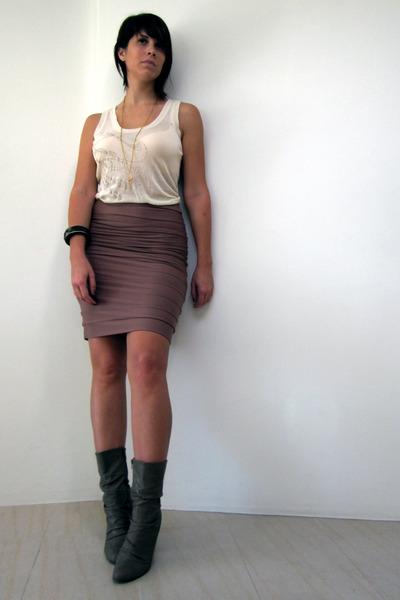 Diesel top - Kookai skirt - Ebay - flea-market necklace - f21 bracelet 86db354e8