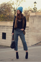 leather Mango jacket - Kurt Geiger boots - denim Cheap Monday jeans