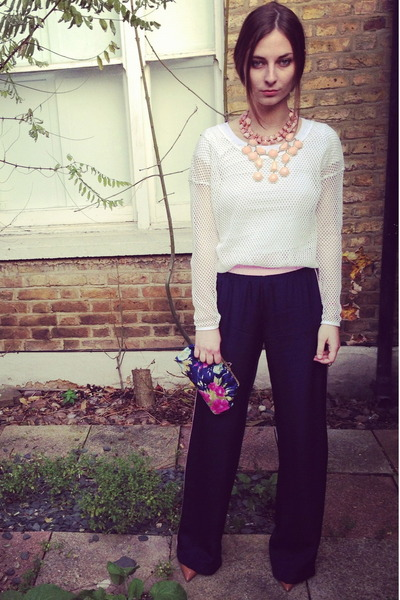 H&M top - vintage bag - Eudon Choi pants - Kurt Geiger pumps - H&M necklace