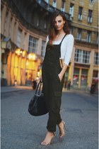 jumpsuit Zara suit - selleria Fendi bag - crop top H&M top - nude  sandals