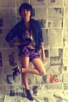 glamor shop blazer - glamor shop dress - shorts - zyan shoes shoes