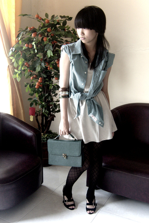 shirt - brellashop top - tights - zyanshoes shoes - glamorshop wallet - unbrande