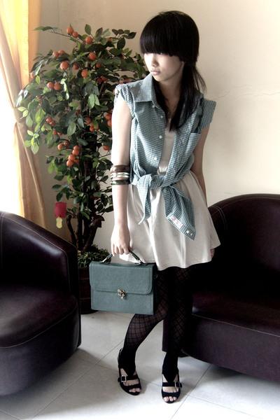 shirt - brellashop top - tights - zyanshoes shoes - glamorshop wallet - unbrande